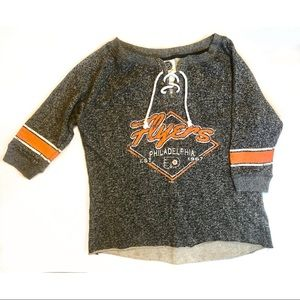 Philadelphia Flyers Lace Up Jersey Heathered